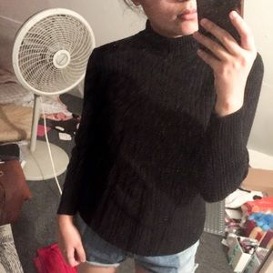Sweaters - Black Knit Turtleneck